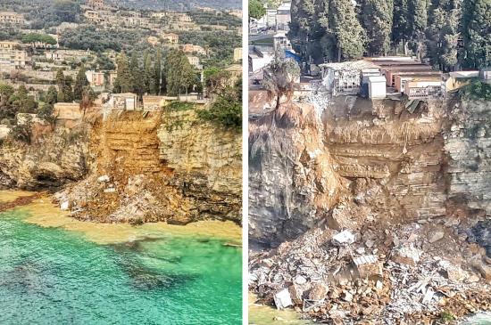 italy coffins sea landslide