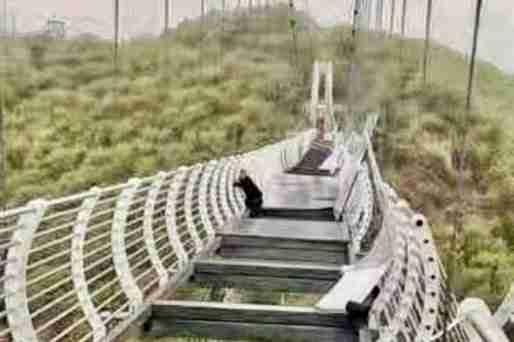 china glass bridge tourist wind thumbnail