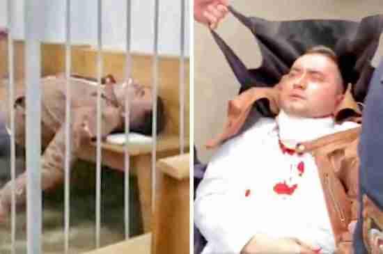 belarus activist stabs self court thumbnail