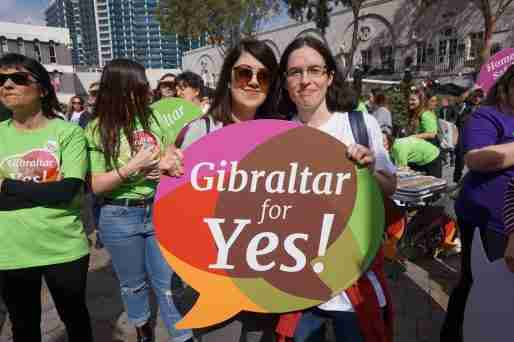 gibraltar abortion legalize refernedun sign women