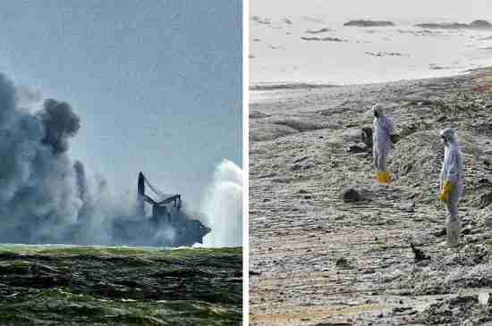 sri lanka ship fire environmental disaster