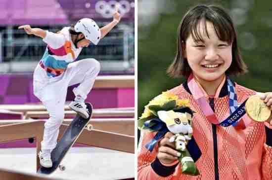 13yr old Momiji Nishiya wins Olympic Gold in Street Skateboarding