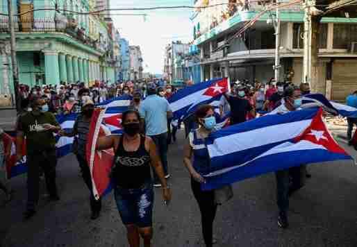cuba protest anti government havana