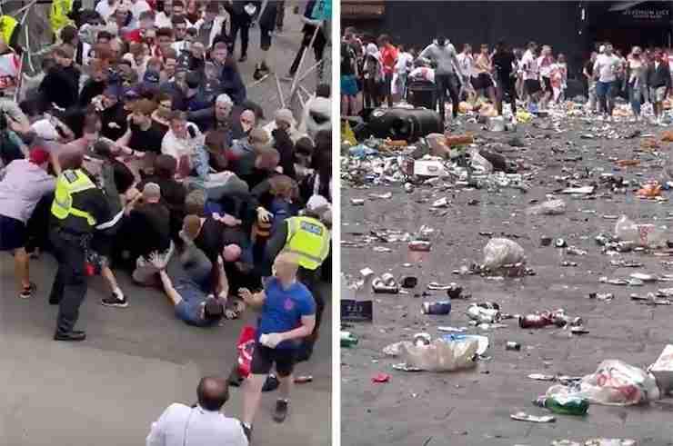 england euro 2020 racism trash london