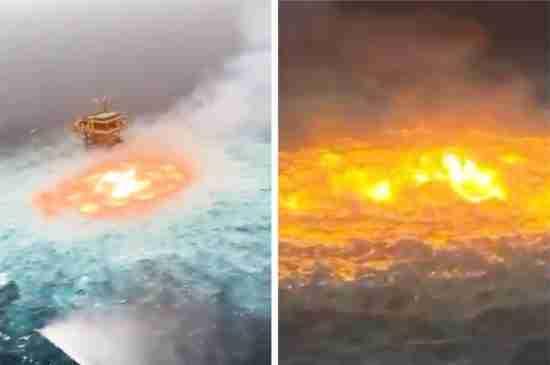 gulf of mexico fire pemex gas leak
