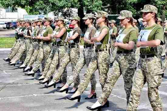 ukraine military heels women