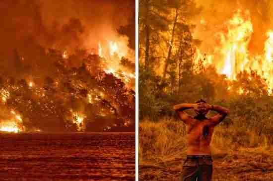 greece wildfires heatwave 30 years