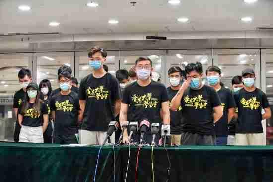 hong kong students arrest advocating terrorism july 1
