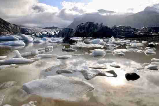 iceland glacier melting global warming