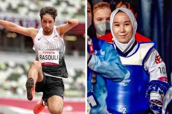 afghan-paralympians-tokyo-2020-zakia-khudadadi-hossain-rasouli