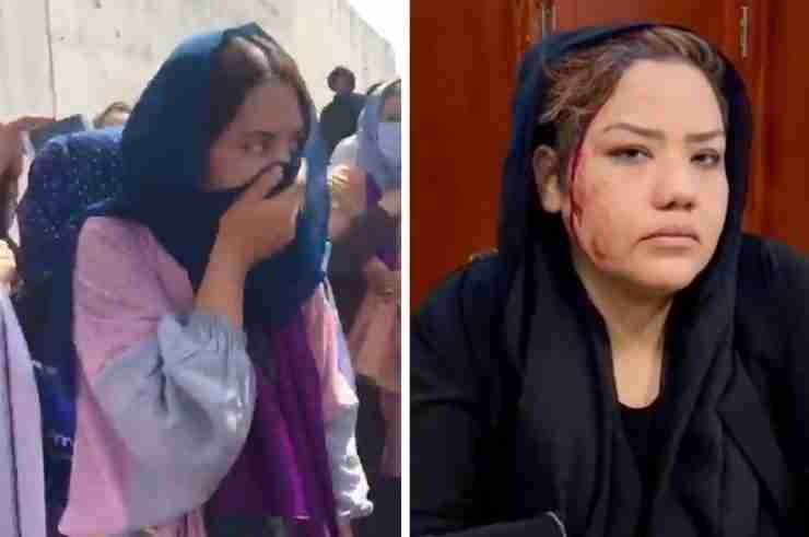 afghan women protest violence taliban kabul