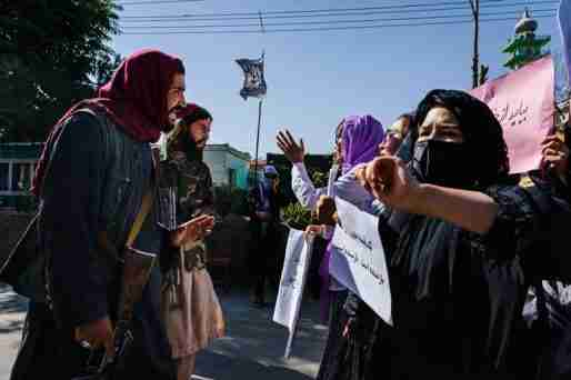 afghanistan taliban government man women