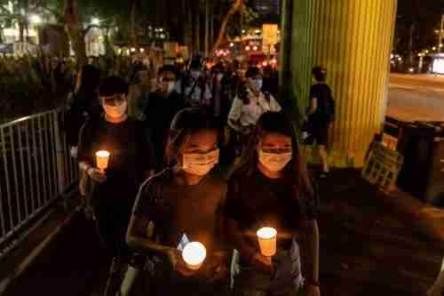 hong kong tiananmen jailed