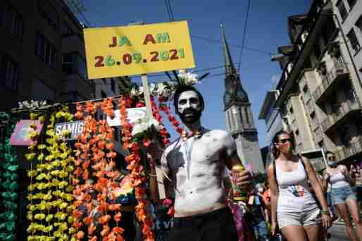 switzerland gay marriage protest