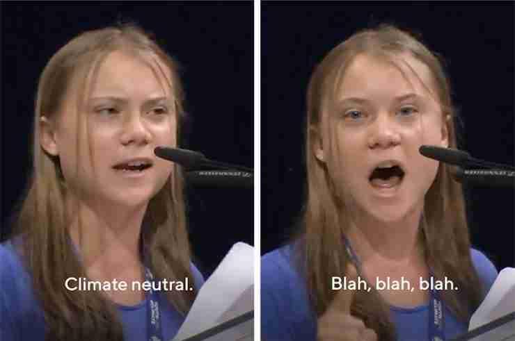 greta thunberg blah blah blah