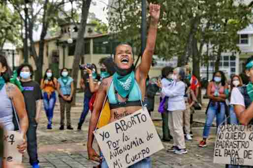 latin american women abortion protest