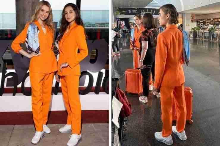 ukraine flight attendants heels trainers